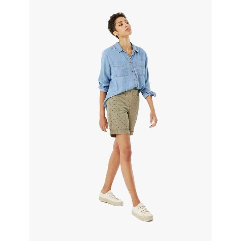 harga MARKS & SPENCER - Celana Pendek Wanita - Pure Cotton Polka Dot Long Chino Shorts Blibli.com