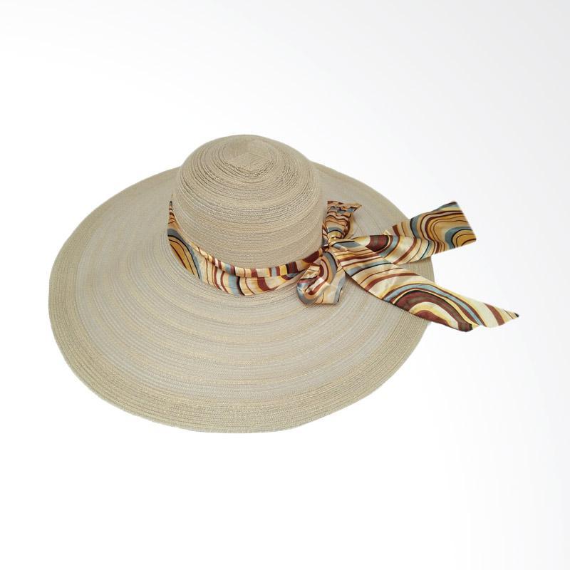 Jual D D Hat Collection Floppy Hat Wide Ribbon Topi Pantai Lebar Pita  Pelangi - Coklat Muda Online - Harga   Kualitas Terjamin  df0899ec83