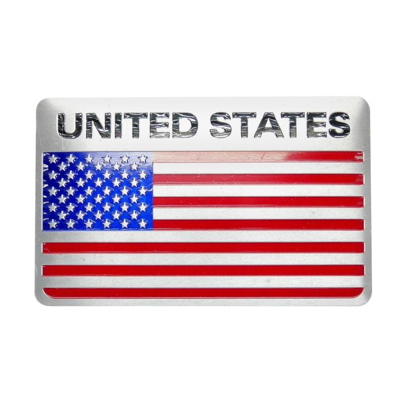 SIV Bendera United States Universal Emblem Play Nomor Mobil or Motor