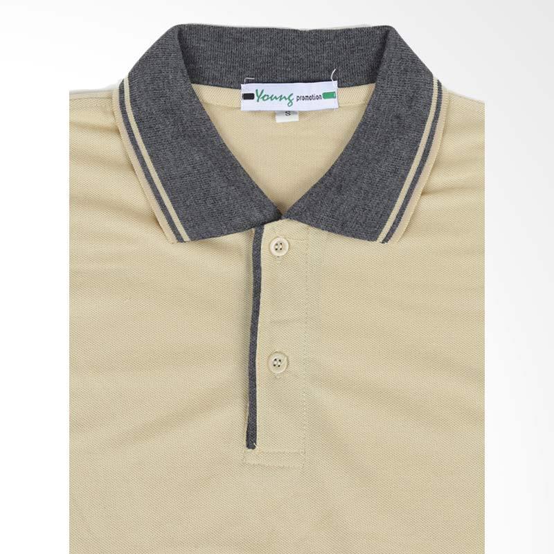 Jual Elfs Shop Neck Polo Shirt - Abu Tua Khaki Online - Harga & Kualitas Terjamin