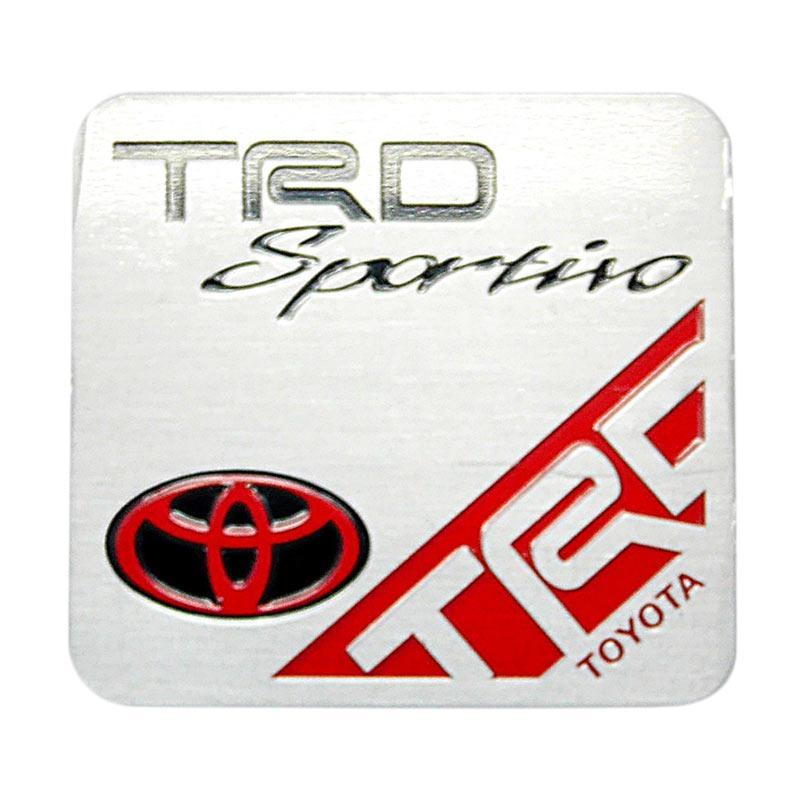 SIV EMB-TRD02 TRD Sportivo Kotak Universal Emblem Aksesories Bodi Mobil