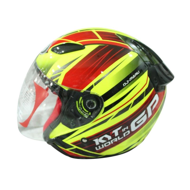 harga Helm KYT Dj Maru World Gp Ready #2 - Yell Fluo/Red Maroon/Gunmetal Blibli.com