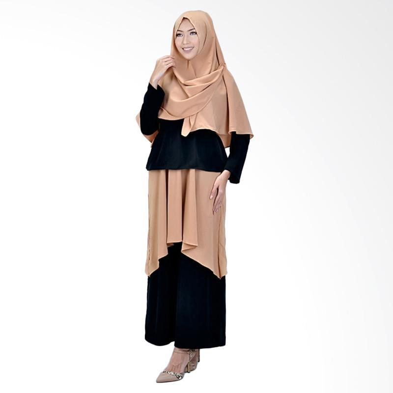 harga Azzura 643-11 Casual Setelan Gamis dan Kerudung Muslimah Wanita Blibli.com