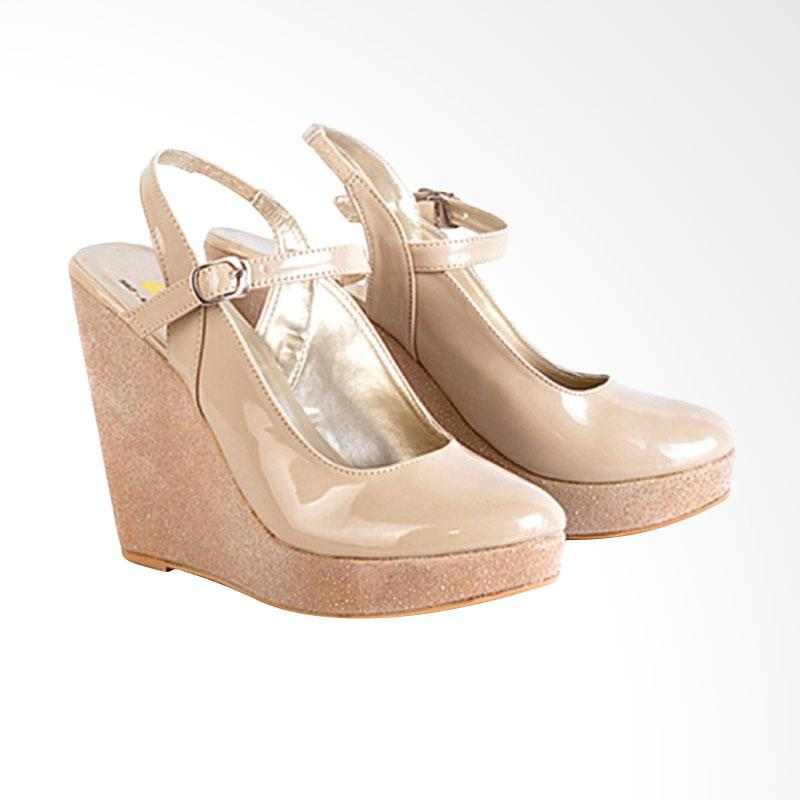 harga Azzura 567-06 Sepatu Wedges Wanita - Cream Blibli.com