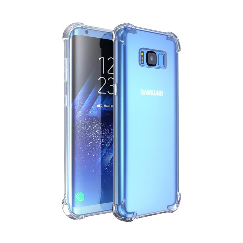 Wanky Anti Crack Shock Proof Silicone Softcase Casing for Samsung Galaxy S8 Plus