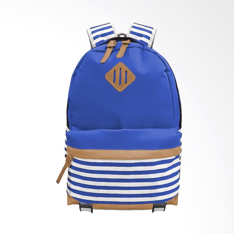 Bag & Stuff Annelo Korea Backpack Tas Wanita - Biru Elektric
