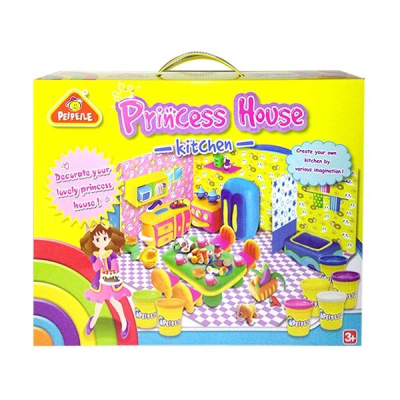 Princess House Kitchen Play Dough Mainan Lilin Anak