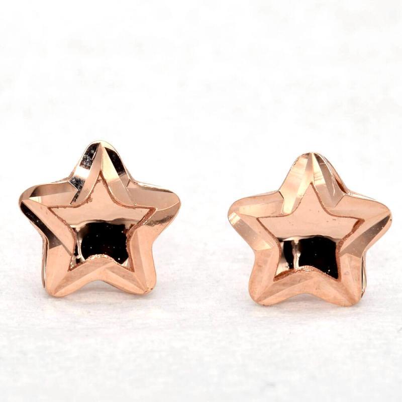 Tiaria Star D1 Earring Anting Emas Perhiasan - Rose Gold