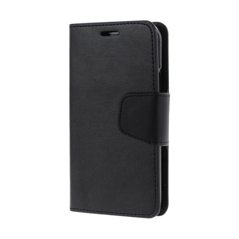 Mercury Standing Flip Cover Casing for Samsung Galaxy Grand 2 - Black