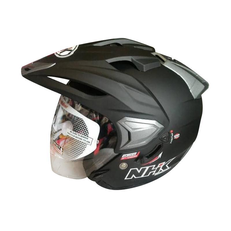 harga NHK Predator Crypton Solid Helm Half Face - Black Doff Blibli.com