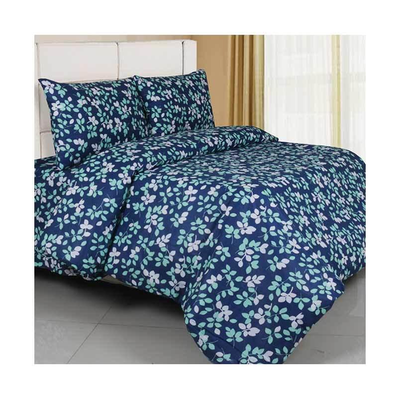 Ellenov Motif Freya Set Sprei dan Bed Cover - Biru