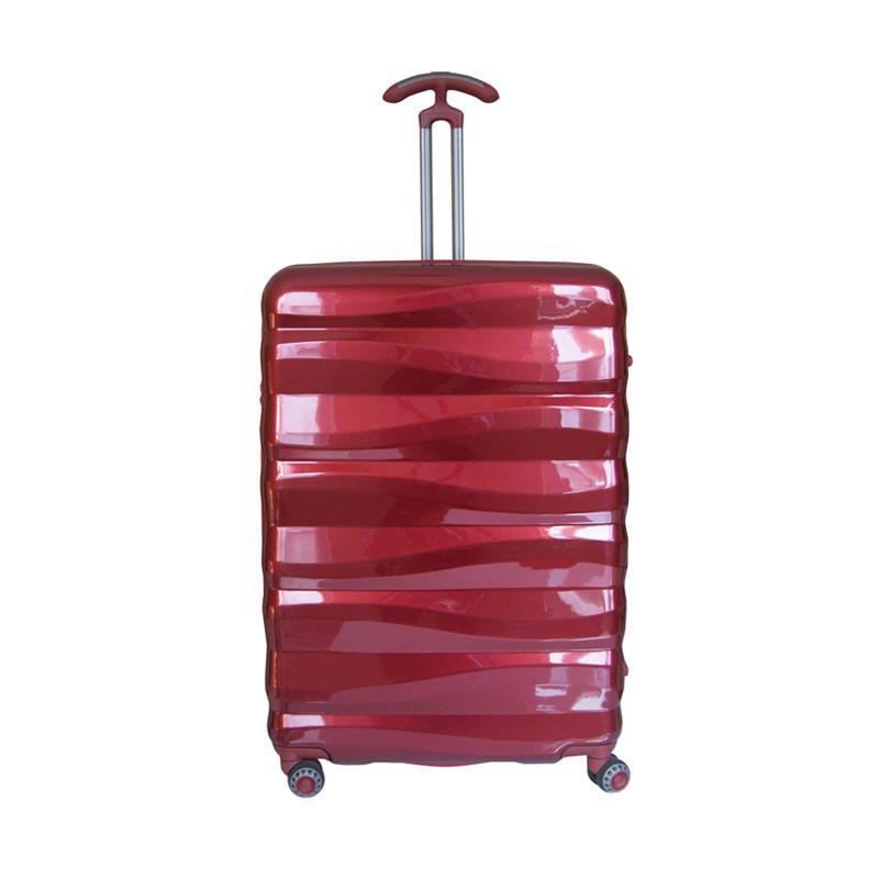 Traveler's Choice Edinburg Hardcase Tas Koper - Red [Size Medium/26 Inch]