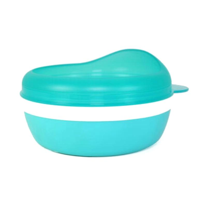 Dearya DY-1107 Non Skid Single Bowl with Arch Lid Mangkuk Bayi - Blue