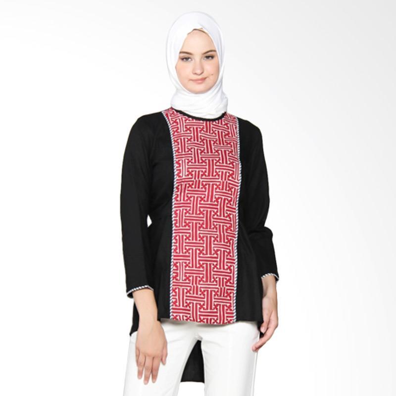 Yanna Azwar Sahara Batik Blouse - Black Red