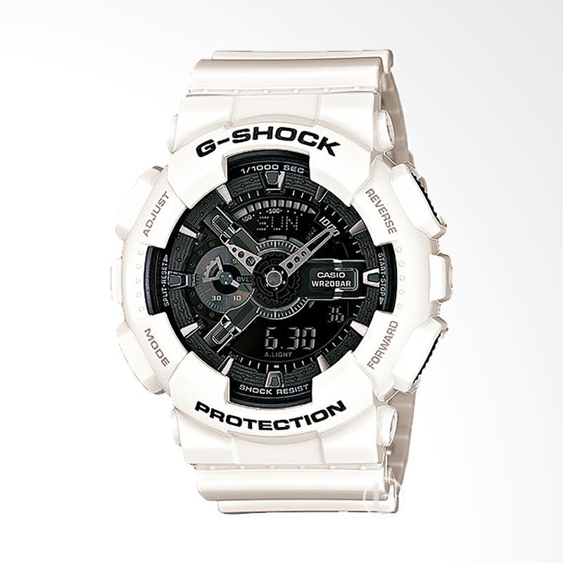 CASIO G-Shock Jam Tangan Pria - Black White GA-110GW-7ADR