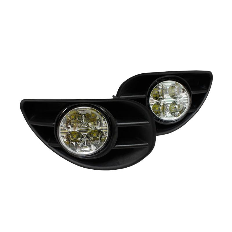 Autovision Apex Car DRL Rumah Lampu Fog Lamp for Toyota Yaris 2005-2009 [12V/ 10W/ 6000K]