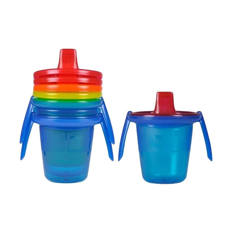 The First Year Take & Toss Cups with 2 Blue Peralatan Makan [7 oz]