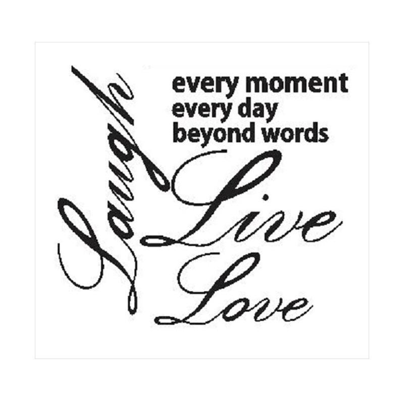 OEM Quotes Laugh Live Love Wall Sticker Dekorasi Dinding