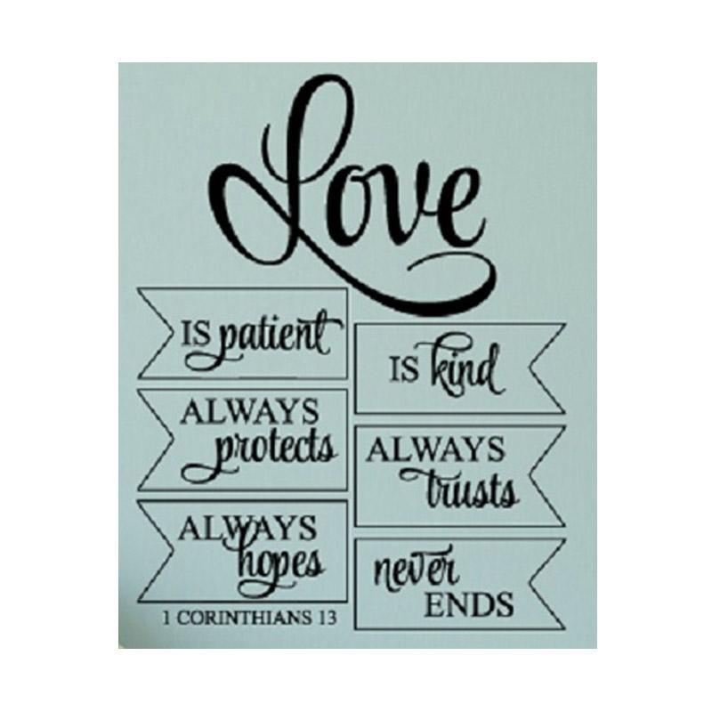 OEM Makna Cinta Kasih Korintus Wall Sticker Dekorasi Dinding