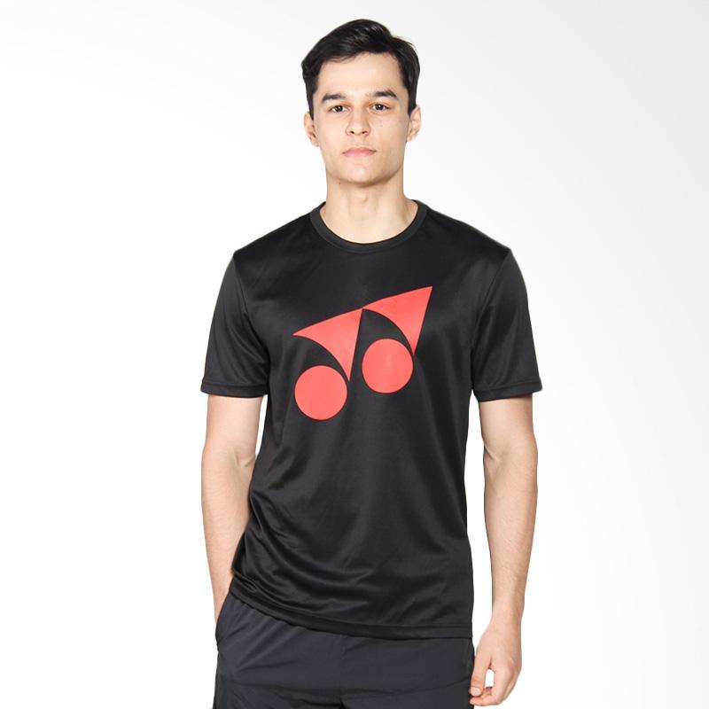 harga YONEX Fiery Red Round Neck Men T-Shirt Kaos Badminton - Jet Black RM-S092-16254-178B-17-SR Blibli.com