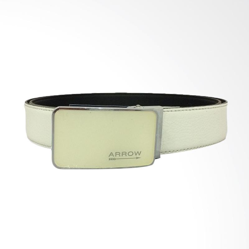 Arrow Leather Belt Ikat Pinggang Pria - White [120 cm] BP-AR2260FCSA15-B30177004