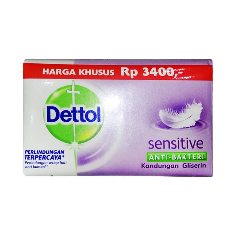 Dettol Sensitive Anti Bakteri Sabun Mandi [65x 3 pcs g]