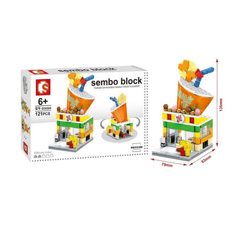 Sembo SD6069 Milk Tea Mainan Mini Blocks