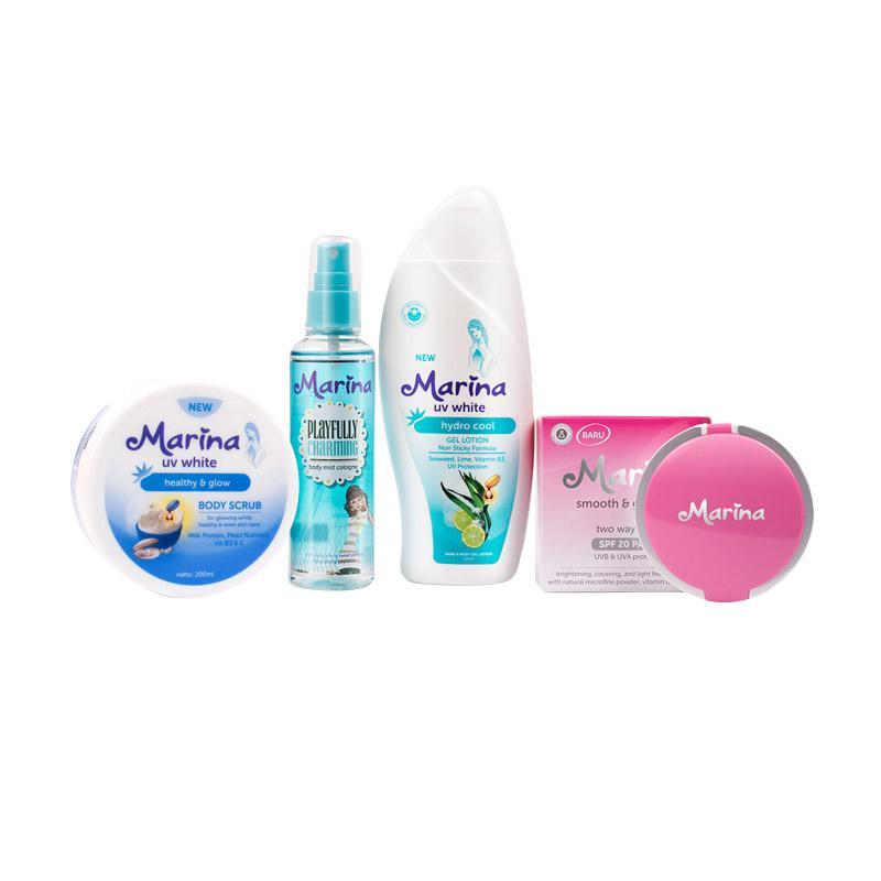 Marina Paket Bersinar Lotion Tubuh - Blue