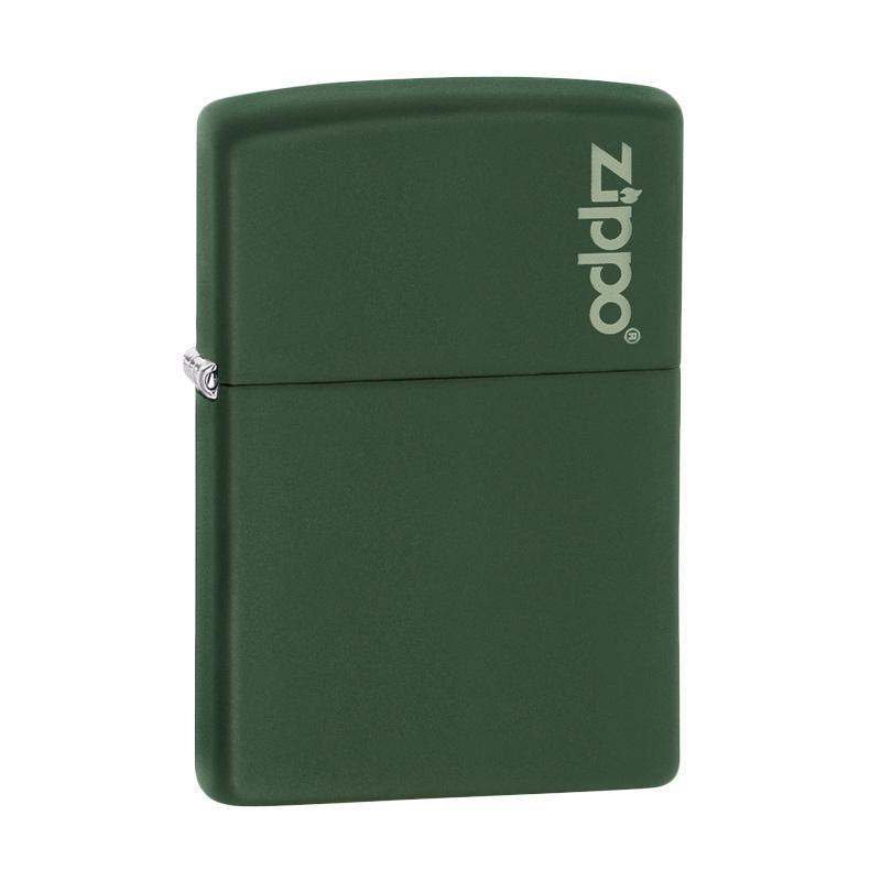Zippo Matte Logo Pocket Lighter - Green