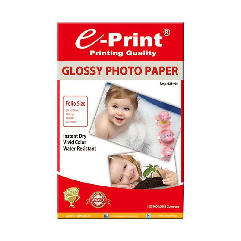 E-Print Double Side Glossy Folio F4 Kertas Foto Bundling 2pcs [40 Sheet/230 gsm]