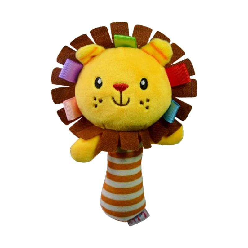 Chloebaby Shop s279 Lion Rattle Stick Mainan Edukasi Bayi