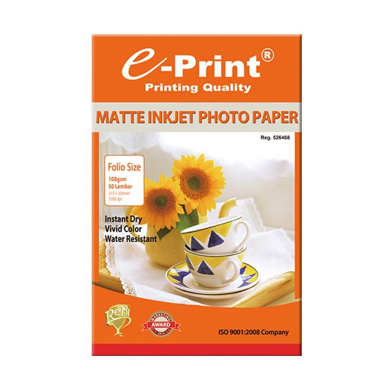E-Print Inkjet Paper Folio F4 [108 gsm/50 Sheets]