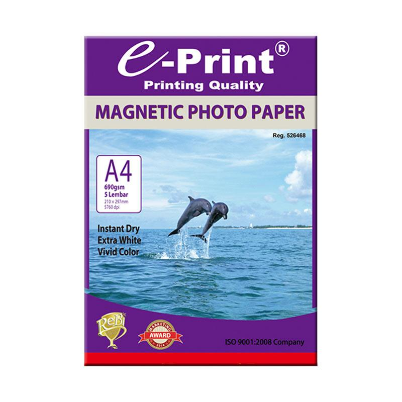 E-Print Magnetic A4 Photo Paper Kertas Foto [650 gsm/5 Sheets]