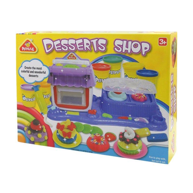 PEIPEILE Double Deserts Workshop Play Dough Mainan Lilin Anak - Multicolor
