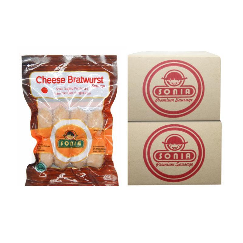 SONIA Sosis Cheese Bratwurst 28/25 [1 BOX]