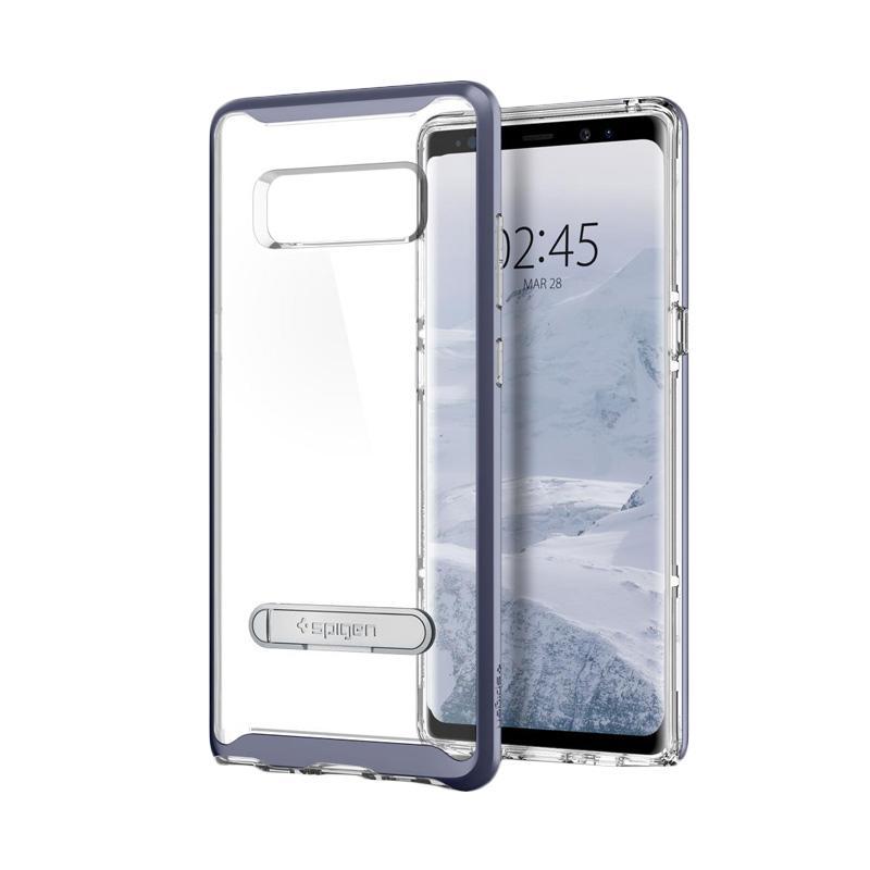 Spigen Crystal Hybrid Orchid Casing for Samsung Galaxy Note 8 - Grey [587CS21841]