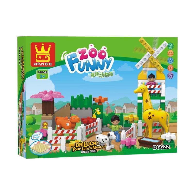 Wange D6622 Funny Zoo Duplo Mainan Blok & Puzzle