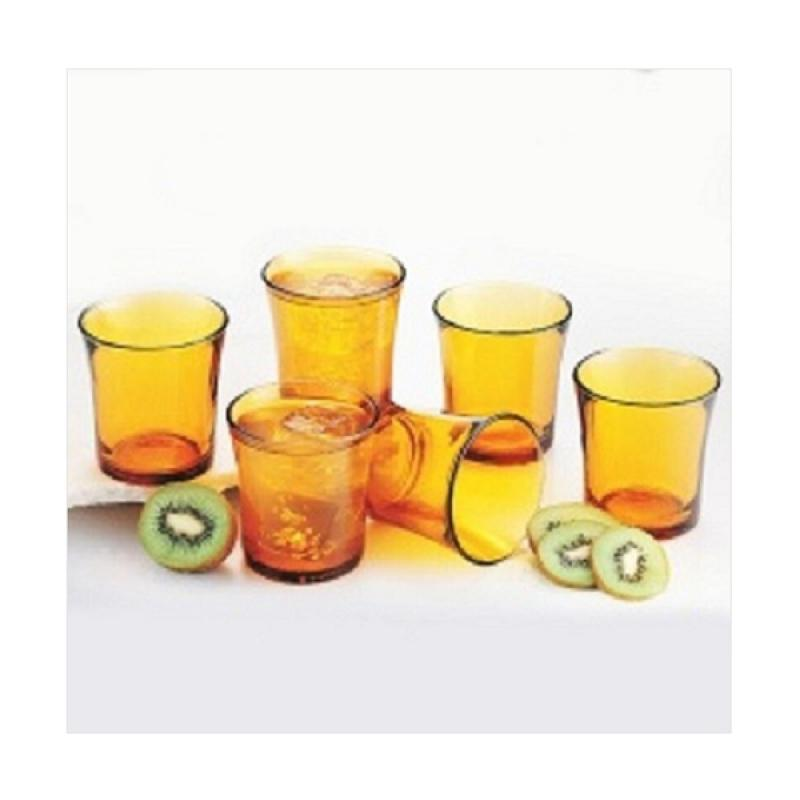 Duralex Tumbler Set Gelas - Amber [21 CL/210 mL/ 6 pcs]