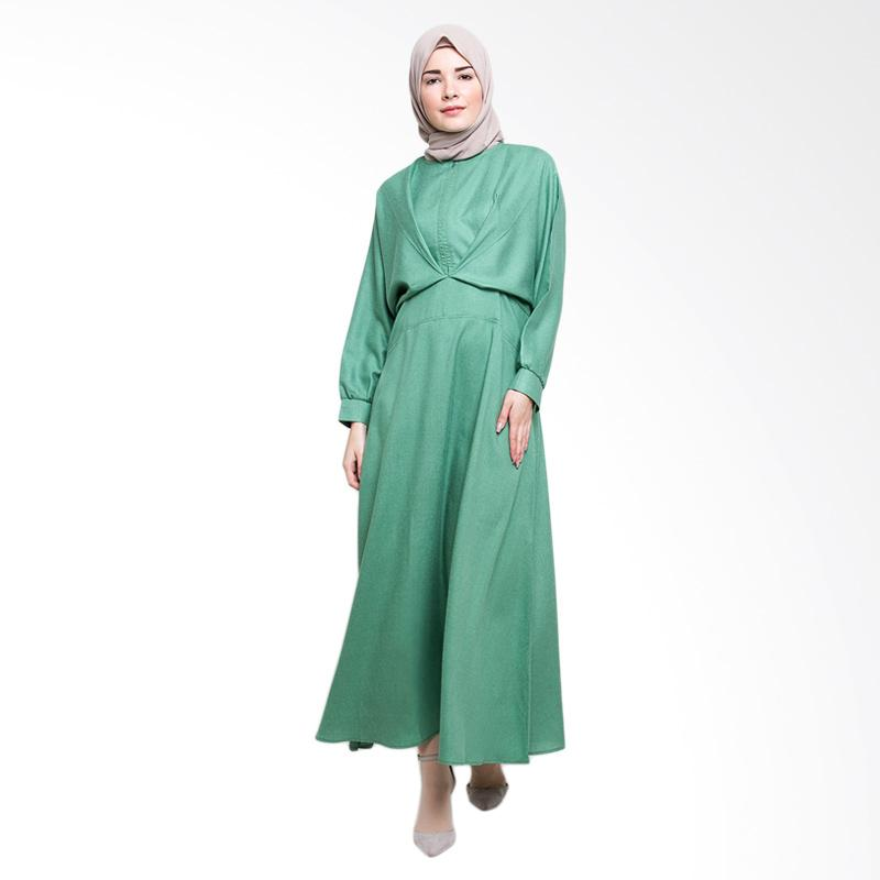 Allev Ramiza Dress - Hijau