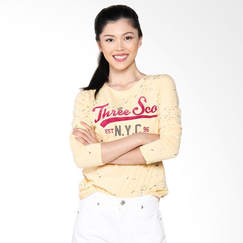 3 Second Ladies Tshirt 0609 106091722 Atasan Wanita - Yellow