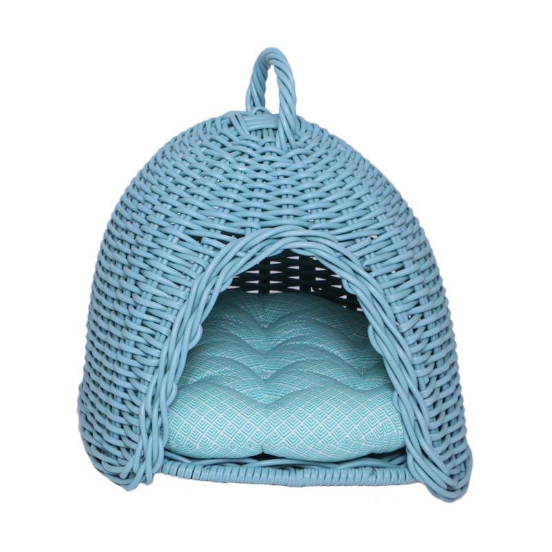 harga kandang, tempat tidur anjing/kucing, keranjang, kurungan Mylo Sphinx Pet Supplies mint  - Colour River blue new Blibli.com