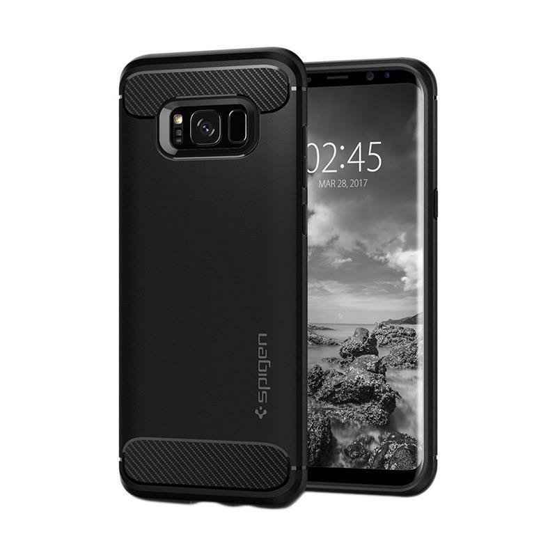 Spigen Rugged Armor Carbon Fiber Design Casing for Samsung Galaxy S8 2017 - Black