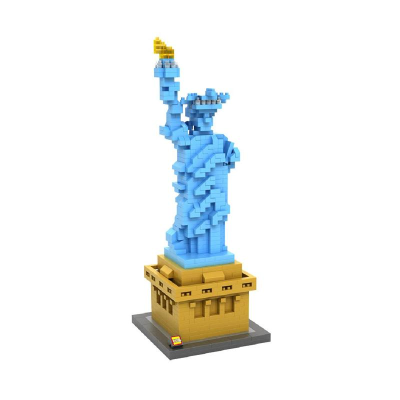 Loz Diamond Block World Famous Architecture Series 9387 Statue Of Liberty Mainan Anak