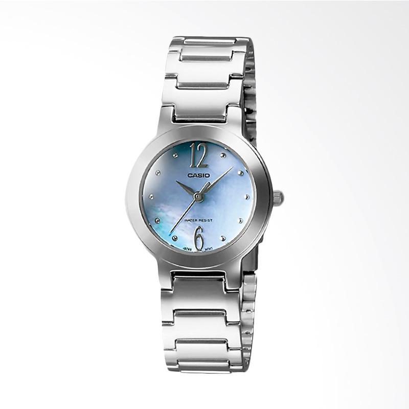 Casio LTP-1191A-2ADF Enticer Ladies Pearl Dial Stainless Steel Jam Tangan Wanita