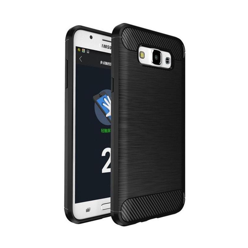 Ipaky Carbon Slim Rugged Casing for Samsung Galaxy J3 Pro  J330 - Black