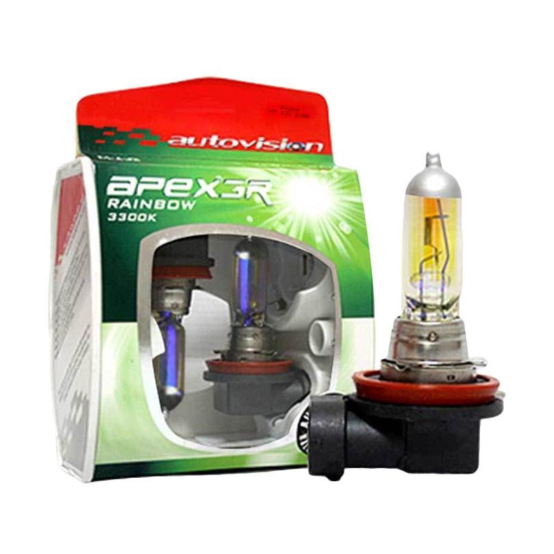 Autovision Apex Car H11 Rainbow Bohlam Lampu [12 V/100 W]
