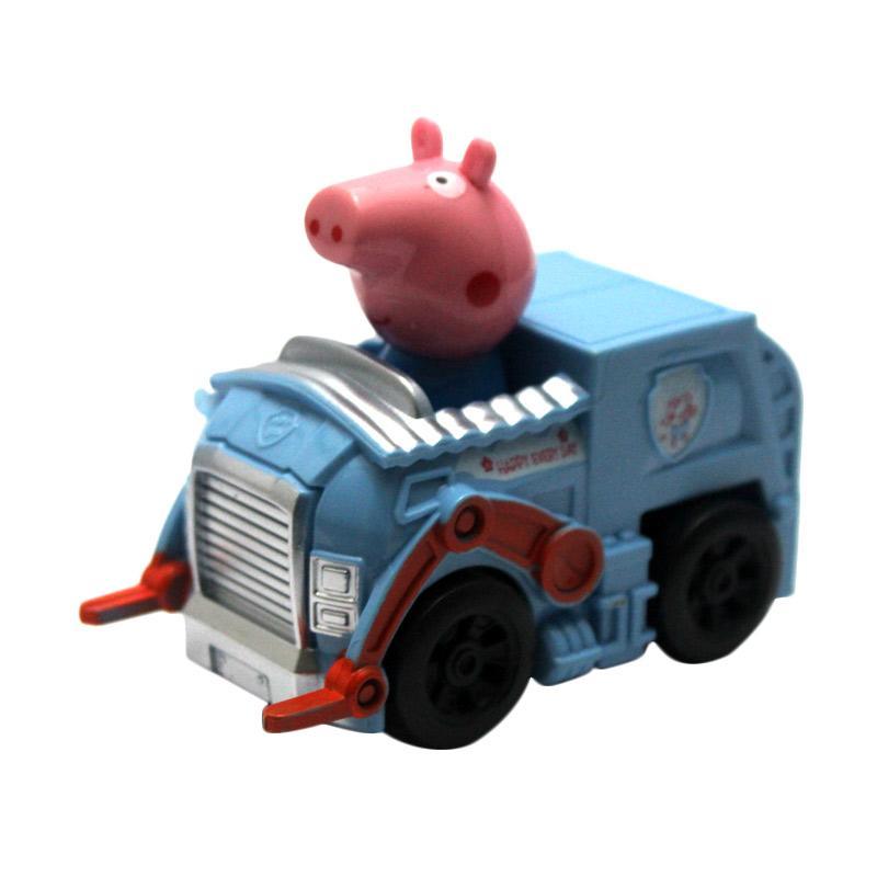 Skai Peppa Pig Car Mainan Anak - Blue