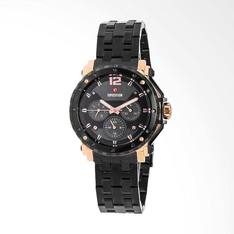 Expedition EXF-6402-BFBBRBA Black Dial Black Stainless Steel Jam Tangan Unisex - Black