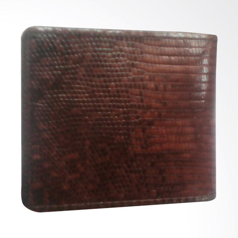Zamrud Purse of Snake Skin Combination and Lizard Skin Dompet Pria - Brown Gold