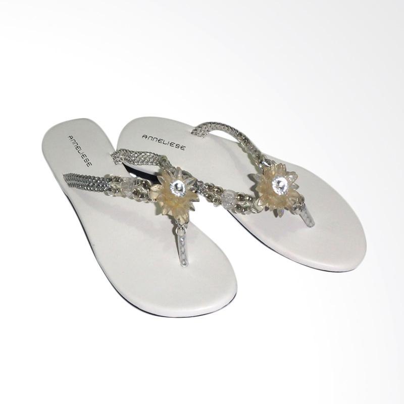 Anneliese Chrysan Sandal Flat Wanita - Putih